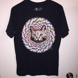 Kaleidoscope cat graphic T-shirt